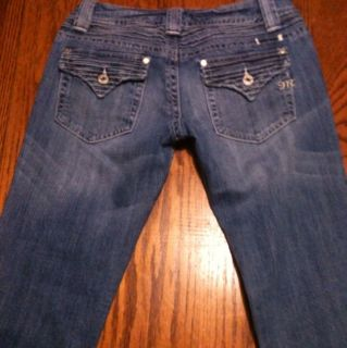 Miss Me Brand Womens Blue Capri Cropped Denim Jeans Size 28
