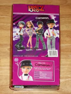NIB 2012 BRATZ BOYZ Doll CAMERON Cool Boys Blaze w/ Scented Bouquet