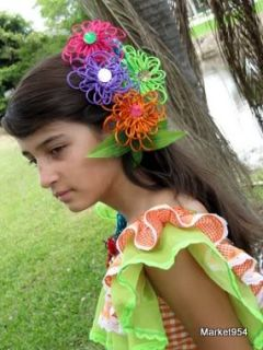 Girls Brazil Carnival Ruffled Dress Womens Costumes Handmade Cumbia