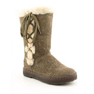 Bearpaw Bristol Womens Sz 7 Brown Birch Boots Snow Shoes
