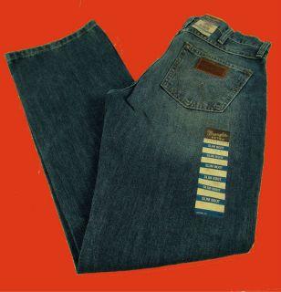 Mens Western Wrangler Retro Slim Boot Cut Premium Patch Jeans 13MWZRW