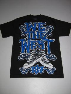 We The West Chucks 187 Inc Shirt Tee Black Blue Tshirt SS Short Sleeve