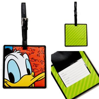Disney by Britto Oversize Faux Leather Donald Duck Luggage Tag 4024813