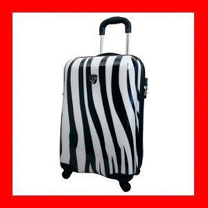 Heys USA Exotic Spinner 20 Zebra Print Carry on Luggage Bag Brand