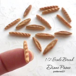 Half Scale Food Italian French Bread Baguette Dollhouse Miniature 1 24