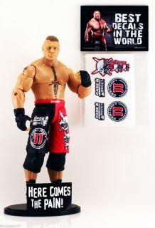 BROCK LESNAR trunk DECALS for mattel wwe wrestling figures *FIGURE NOT