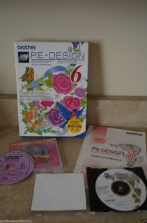 Brother PE Design 6 Digitalizing Embroidery Software UPGRADE with CD