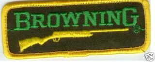 Browning Rifle Shot Gun Collectors Firearms Patch