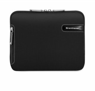 Brenthaven Black Grey iPad 1 2 Nook Kindle Tablet Sleeve Case Bag