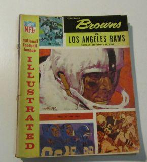 1963 Cleveland Browns Los Angeles Rams NFL Football Program Jim Brown
