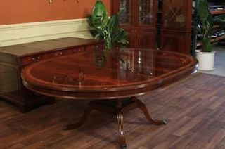 High End 60 Round Mahogany Duncan Phyfe Dining Room Table w/ Leaf