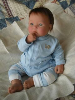 Berenguer Sweet Baby Boy Doll Brenton Blue Eyes Angel Face