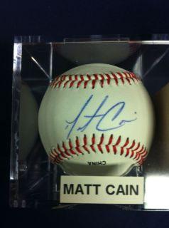 Signed Matt Cain Baseball Perfect Game SF Giants