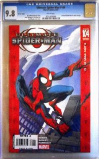 Ultimate Spider Man #104 CGC 9.8 Variant Cover