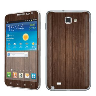 USA Brown Wood Vinyl Case Decal Skin to Cover Samsung Galaxy Note i717