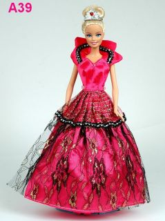New fashion Handmade Wedding Clothes party Dresses Gown for Barbie