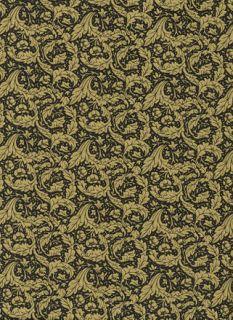 RARE British Rose Hubble Art Nouveau William Morris Fabric Daisy Black