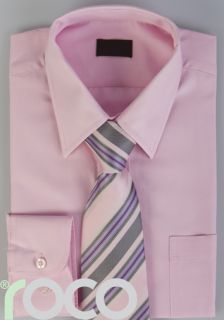 Pink Formal Wedding Boys Suit Shirt Tie Set 2 to 12yr