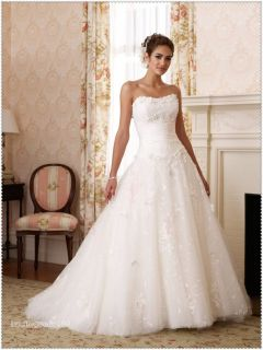 Sleeveless Empire Line Sweetheart Wedding Bride Dress Lace Up