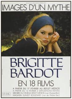 Brigitte Bardot POSTER French Film Festival SEXY 60s mod RARE