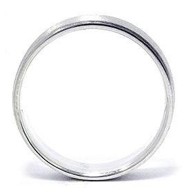 Mens 14k White Gold Flat Brushed 6mm Ring Wedding Band