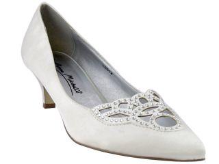 Bridal Shoes Women White Satin Diamante Detail Size 5 6 7 8 9 10