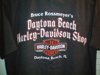 Harley Davidson T Shirt Bruce Rossmeyers Harley Daytona Beach Florida