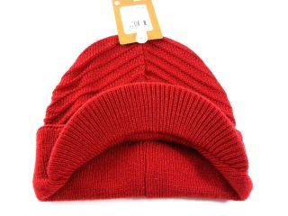 New Nike Brimmer Red Black Visor Beanie Winter Snow Skull Ski Hat Boy