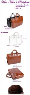 Man Briefcase Man Business Bags Genuine Cowhide Leather Made in Korea