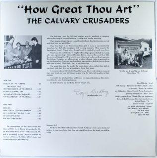 The Calvary Crusaders How Great Thou Art LP USA Custom M /VG