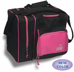 BSI Deluxe Single Bowling Ball Bag Black Pink