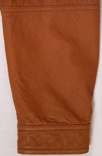 Brunello Cucinelli Coat $4380 Tobacco Brown Leather Bomber Jacket Med