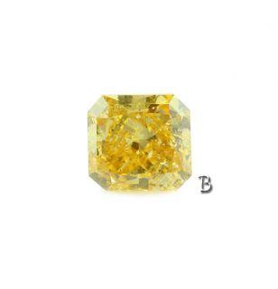 17 Ct Radiant Fancy Deep Orange Yellow GIA Certified Loose