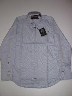 Blaque Label Pin Dot Blue Stripe English Laundry LS Shirt Longsleeve