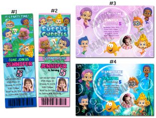 Bubble Guppies Custom Birthday Party Invitation Ticket