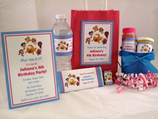Bubble Guppies Girl Birthday Party Invitations Favors Water Candy