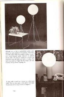 1976 BUILD MID CENTURY MODERN LAMP LIGHTING DESIGN BOOK BUBBLE LAMP