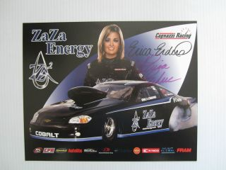 Erica Enders ZA ZA Enegy Signed Drag Racing Handout