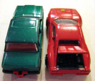 Majorette Die Cast Cars Volvo 760 GLE No 250 & Ferrari GTO No 211