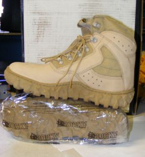 Rocky Boots S2V 120 6 Special Ops Desert Tan USA Hiker Vibram Sole 7W