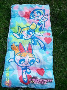 Powerpuff Girls Sleeping Bag Bubbles Buttercup Blossom Fair Cond