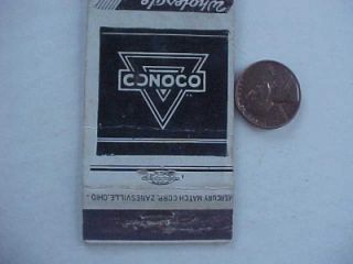 1940s WWII Era Allerton Illinois Conoco Gas Service Station Matchbook