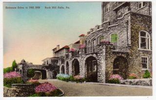Tinted Postcard of The Inn in Buck Hill Falls Pennsylvania