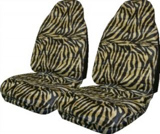 New Tan Zebra Tiger Universal Auto Bucket Seat Covers