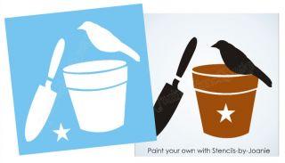 Garden Trowel Potting Flower Bucket Sign Block You Paint