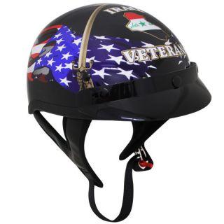 Operation Iraqi Freedom Veteran DOT Motorcycle Shorty Half Helmet OIF