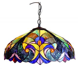 Handcrafted Victorian Styled Tiffany Style Stained Glass Pendant Lamp