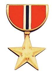 Military Medal Hat Pin Bronze Star Medal