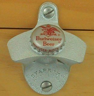 BUDWEISER BUD BEER 70s Vintage Bottle Cap Starr X Wall Mount Bottle