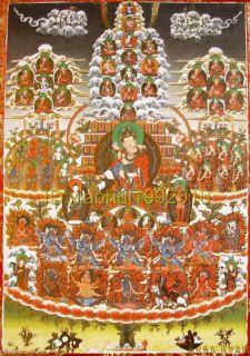 Beautiful Tibetan Thangka Cover Padmasambhava Buddha